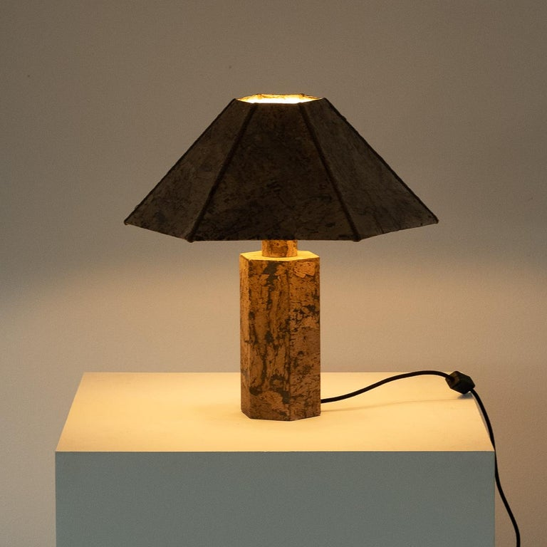 Ingo Maurer Style Cork Lamp, circa 1970 In Good Condition For Sale In London, GB