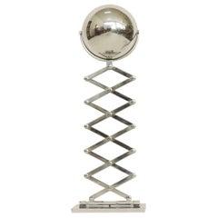 Ingo Maurer Chrome Scissor Table Lamp for Design M, Germany, 1968