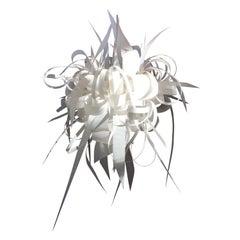 Ingo Maurer Style Abstract Pendant Light, Off-White Felt, Four Available