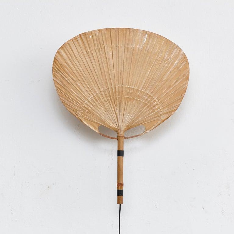 Ingo Maurer Uchiwa Mid-Century Modern Bamboo Sconce Lamp, circa 1970 For Sale 8
