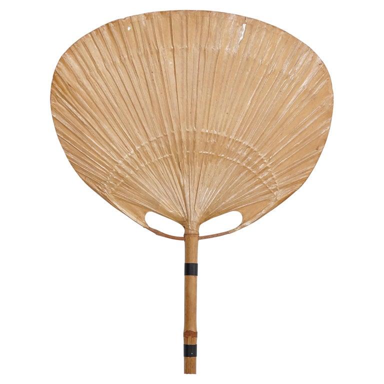 Ingo Maurer Uchiwa Mid-Century Modern Bamboo Sconce Lamp, circa 1970 For Sale