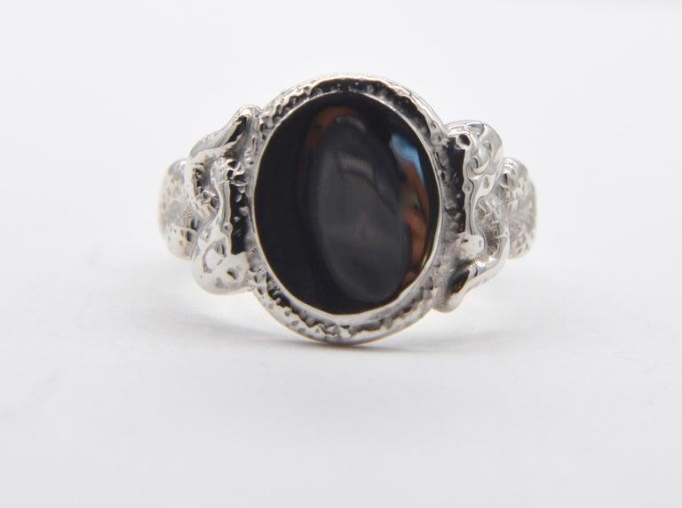 74eb7400bf Ingram Cecil Medusa Sterling Silver Snake Signet Ring