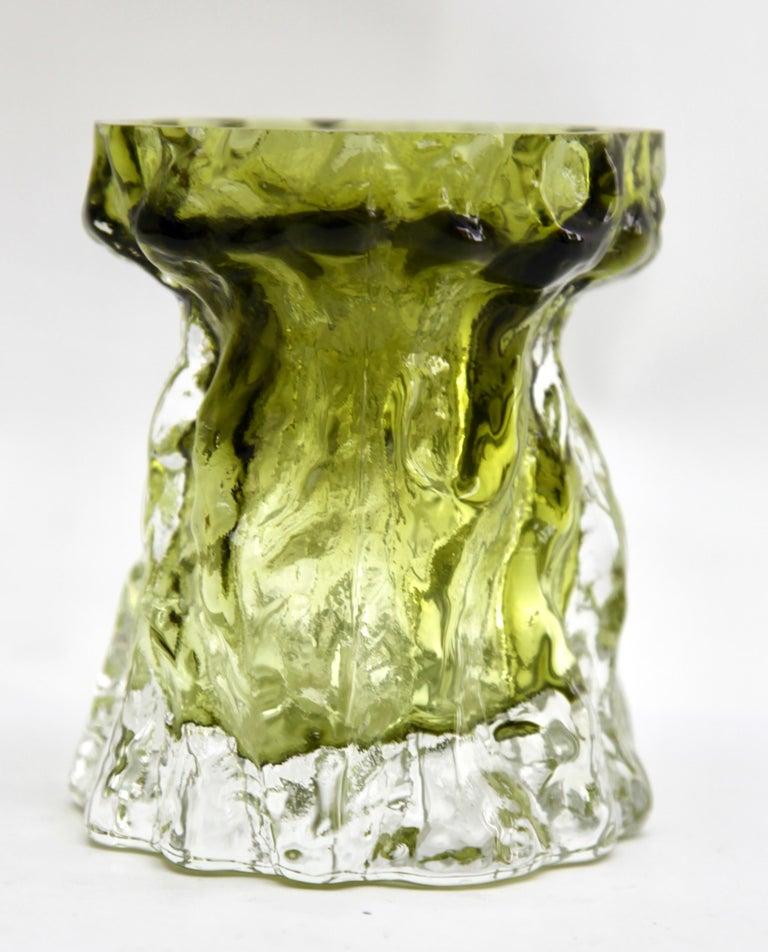 Ingrid Glas 'Germany', Set of Bark Vases in Sage Green, 1970s For Sale 1