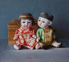 Chinese Dolls- 21st Century Contemporary Still-Life Painting