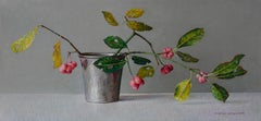 Spindle In A Pot - 21st Century Contemporary Still-Life Oil Painting