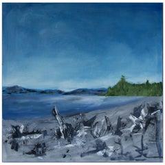 Ingrid Stolzenberg 'Driftwood' German Post Expressionism Painting