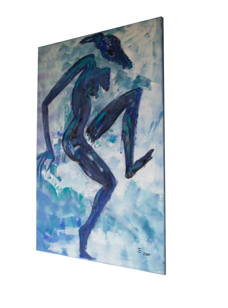 Post-Modern Ingrid Stolzenberg 'Female Chimera' German Post Expressionism Painting For Sale