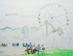 Tuileries garden. 2010. Watercolor on paper, 38x50 cm