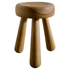 Ingvar Hildingsson Tripod Stool in Solid Pine Produced in Sweden, 1970s
