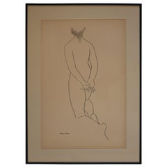 Ink Drawing of a Nude by Jerry O'Day #2