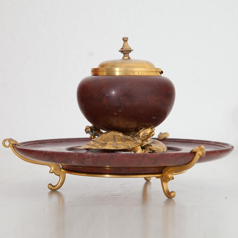 Inkwell by F. Barbedienne, France, circa 1900 For Sale 5