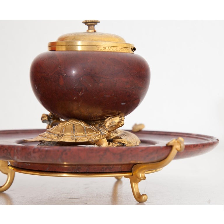 Marble Inkwell by F. Barbedienne, France, circa 1900 For Sale