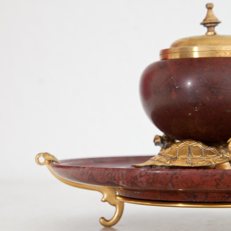 Inkwell by F. Barbedienne, France, circa 1900 For Sale 1