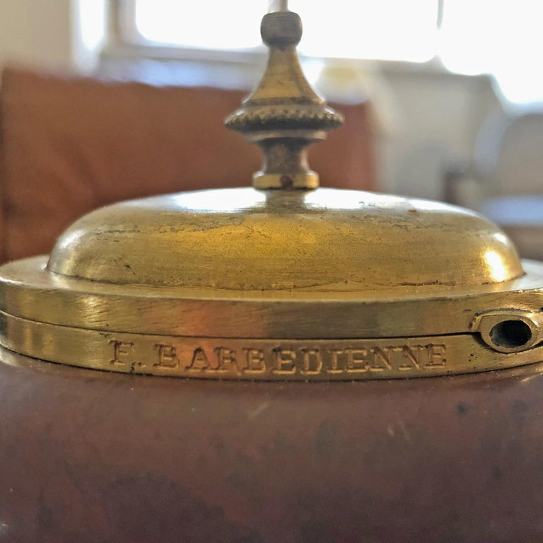 Inkwell by F. Barbedienne, France, circa 1900 For Sale 2