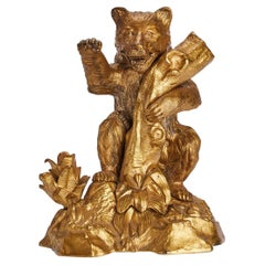 Inkwell Representing a Bear, Russia, 1880