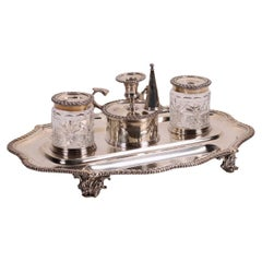 Inkwell Silver London England Early '800