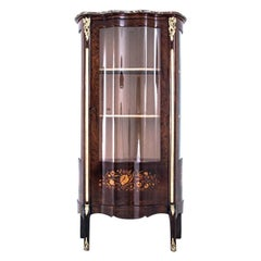 Inlaid Antique Display Cabinet, France, circa 1880, After Renovation