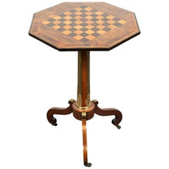 Inlaid, Antique, English Side Table