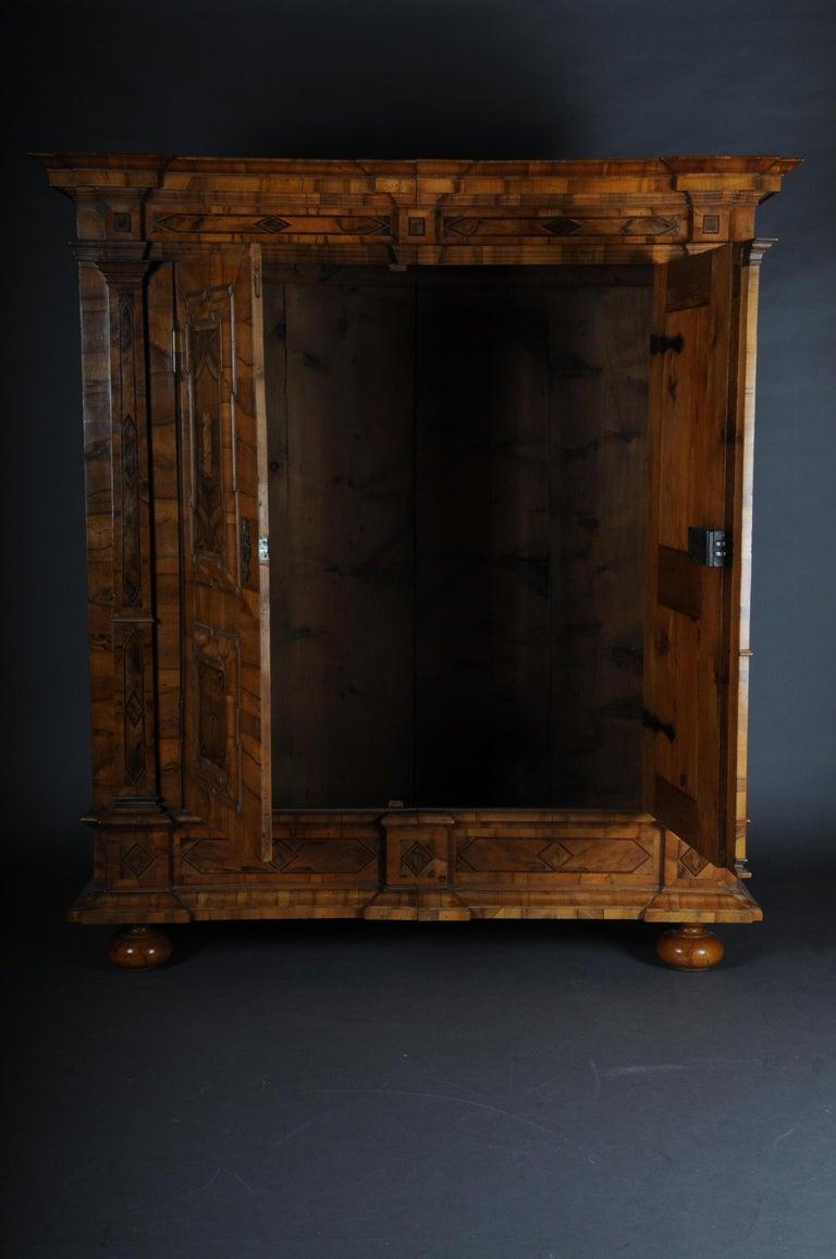 Inlaid Baroque Cabinet, Walnut, German, circa 1730 For Sale 10