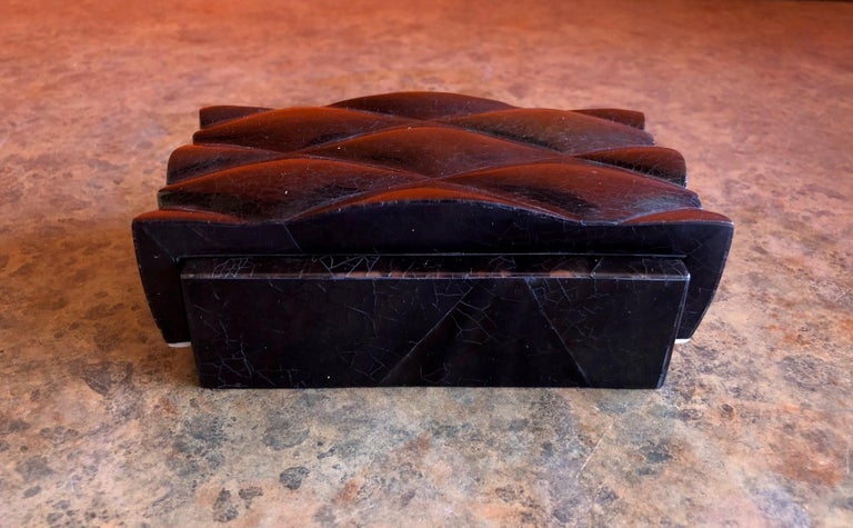 Philippine Inlaid Black Shell and Bone Box by A&Y Augousti For Sale
