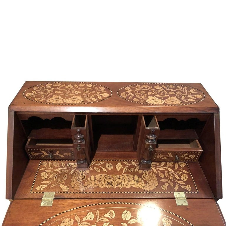 Baroque Inlaid Desk Early 20th Century For Sale