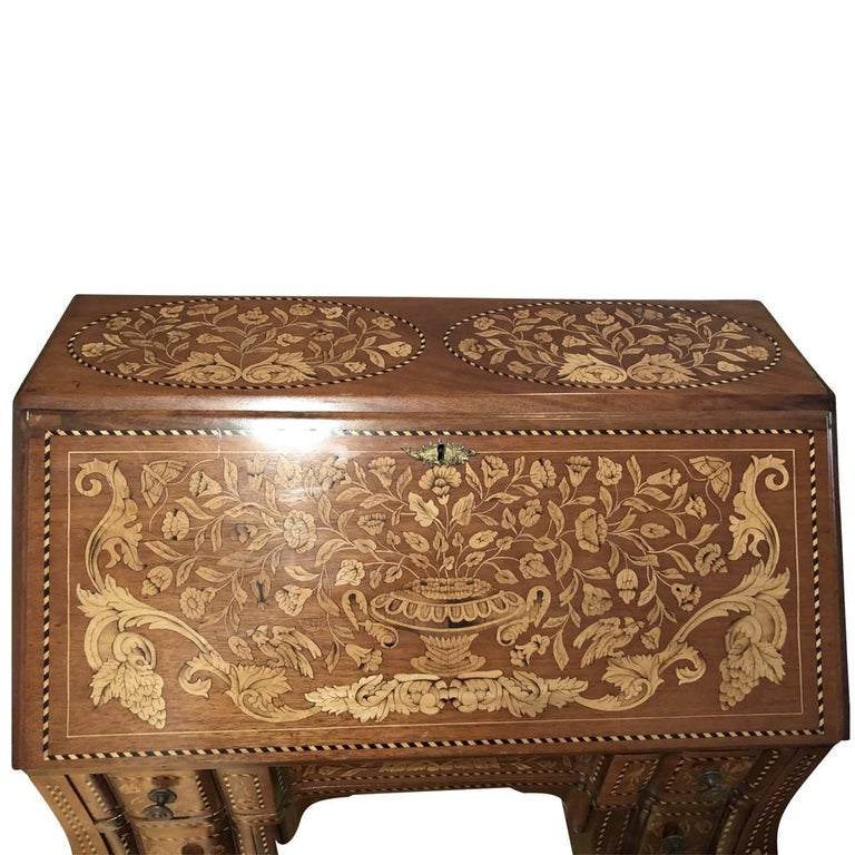 French Inlaid Desk Early 20th Century For Sale