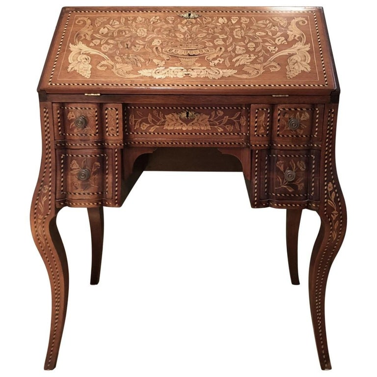 Inlaid Desk Early 20th Century For Sale 3