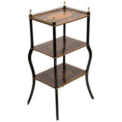 Inlaid English Three-Tier Table