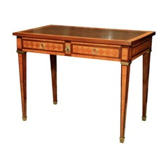 Inlaid French Bureau Plat / Writing Table