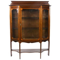 Inlaid Hepplewhite Style Display Cabinet