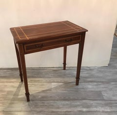 Inlaid Mahogany Diminutive Writing Table Console