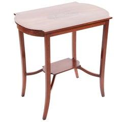 Inlaid Mahogany Freestanding Occasional Table, circa 1900