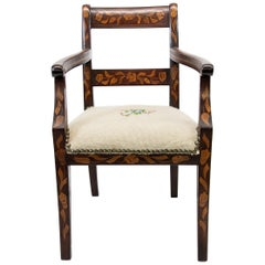 Inlaid Marquetry Child's Armchair