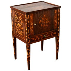 Inlaid Marquetry One-Drawer Commode