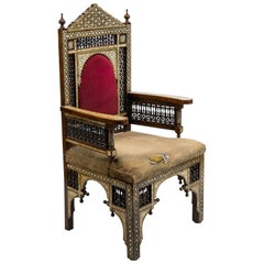 Inlaid Moroccan Armchair