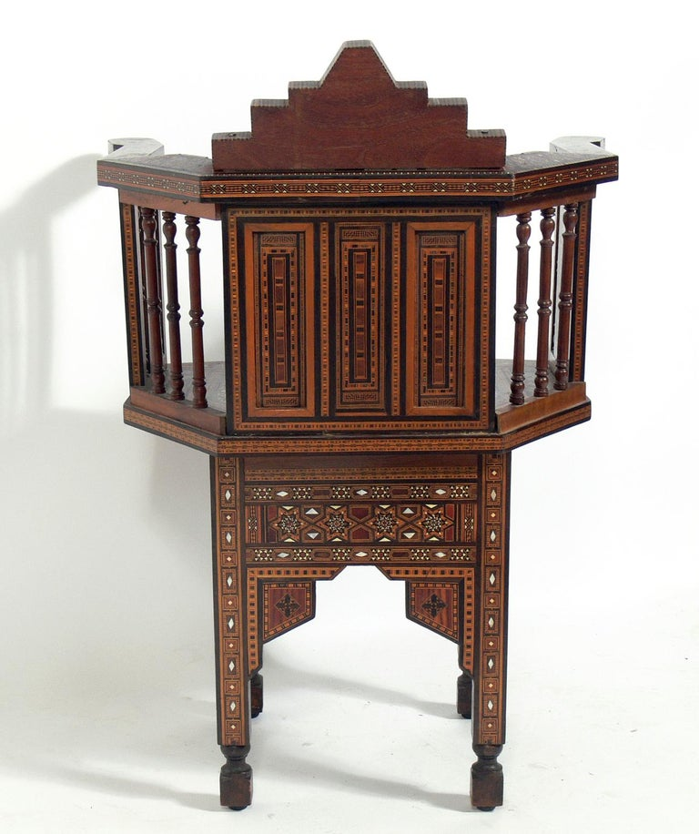 Inlay Inlaid Moroccan Chair  For Sale