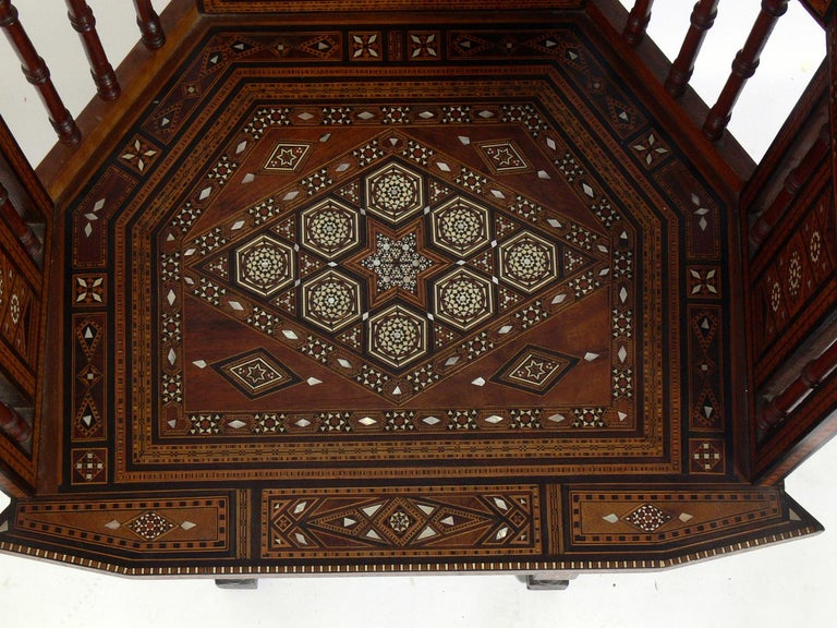 Inlaid Moroccan Chair  In Good Condition For Sale In Atlanta, GA