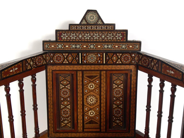 Mid-20th Century Inlaid Moroccan Chair  For Sale