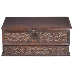 Inlaid Oak Desk Box, Charles II period, Yorkshire, circa 1660-1680
