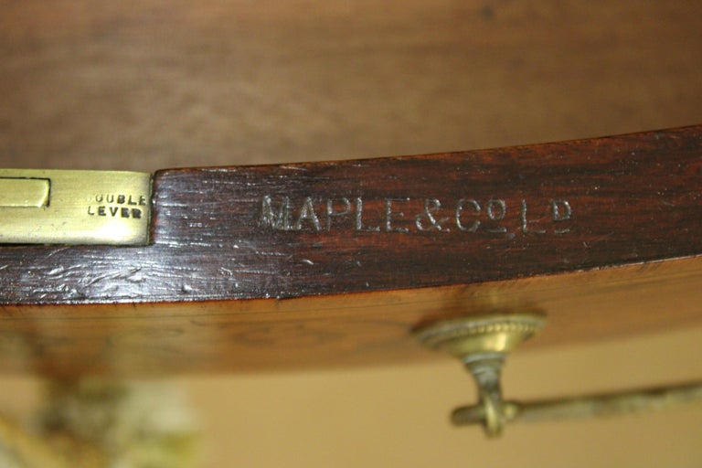 Inlaid Satinwood Writing Table by Maple and Co. For Sale 4