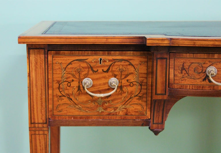 Sheraton Inlaid Satinwood Writing Table by Maple and Co. For Sale