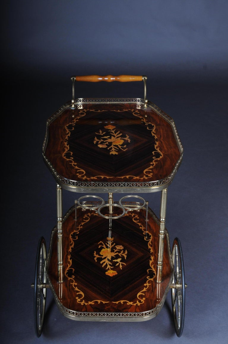 Inlaid Table Bar Table Italy, circa 1960 For Sale 2