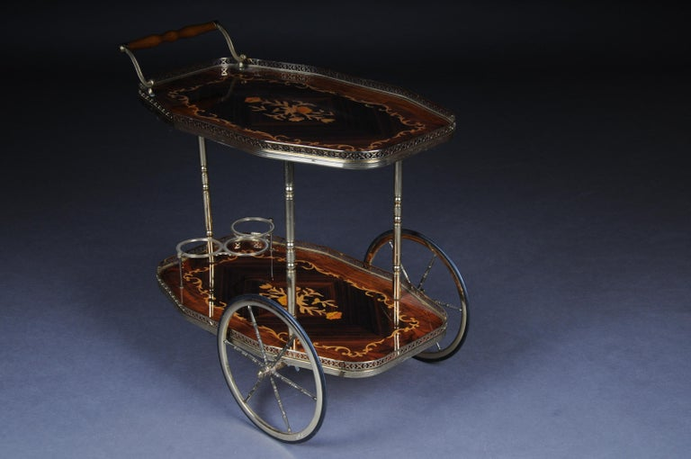 Inlaid Table Bar Table Italy, circa 1960 For Sale 3