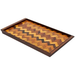 Inlaid Tray with Chevron Pattern by Don Shoemaker for Senal