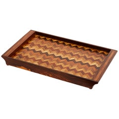 Inlaid Tray with Chevron Pattern by Don Shoemaker for Señal