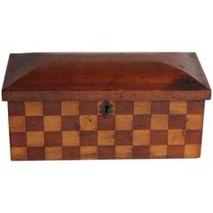 Inlaid Wood Checker Box