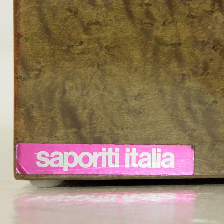 Inlay Extendable Table by Giovanni Offredi for Saporiti, 1980s For Sale 3