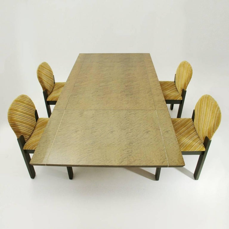 Inlay Extendable Table by Giovanni Offredi for Saporiti, 1980s For Sale 4