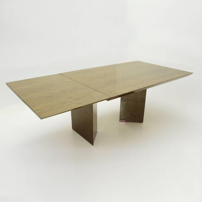 Late 20th Century Inlay Extendable Table by Giovanni Offredi for Saporiti, 1980s For Sale