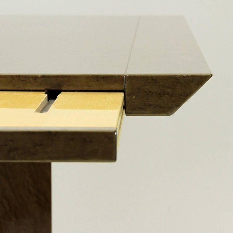 Inlay Extendable Table by Giovanni Offredi for Saporiti, 1980s For Sale 2
